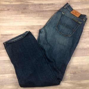 Lucky Brand Dungarees Denim Jeans Made in USA
